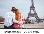 romantic holidays in france ... | Shutterstock . vector #701715982