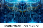abstract technological... | Shutterstock . vector #701719372