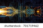 abstract technological... | Shutterstock . vector #701719462
