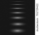 set of realistic vector lights...