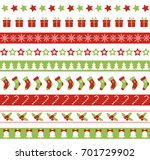 christmas seamless vector... | Shutterstock .eps vector #701729902