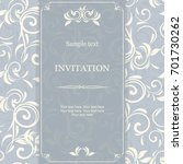 vintage invitation card with... | Shutterstock .eps vector #701730262