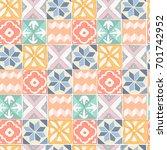tile floor acrylic painted... | Shutterstock . vector #701742952