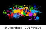 colorful paint spots. vector | Shutterstock .eps vector #701744806