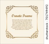 vector decorative frame with... | Shutterstock .eps vector #701749492