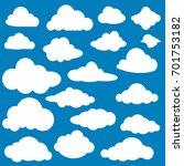 set of cartoon clouds in flat... | Shutterstock .eps vector #701753182
