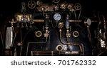 engine room on steam train