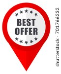 best offer red web pointer icon.... | Shutterstock . vector #701766232