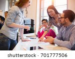 young group of architects... | Shutterstock . vector #701777506