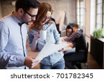 portrait of two architects... | Shutterstock . vector #701782345