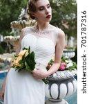 fashion wedding photo shoot ... | Shutterstock . vector #701787316