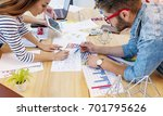 modern team. young architects... | Shutterstock . vector #701795626