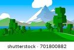 cartoon stylized countryside. | Shutterstock . vector #701800882