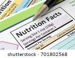 nutrition facts | Shutterstock . vector #701802568