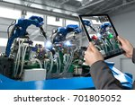 industrial 4.0   augmented... | Shutterstock . vector #701805052