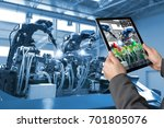 industrial 4.0   augmented... | Shutterstock . vector #701805076