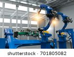 automobile manufacturing... | Shutterstock . vector #701805082
