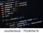 real java script code... | Shutterstock . vector #701805676