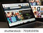 milan  italy   august 10  2017  ... | Shutterstock . vector #701810356