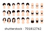 male and female hairstyles set  ... | Shutterstock .eps vector #701812762