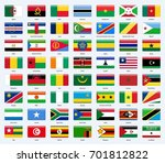all flags of the countries of... | Shutterstock .eps vector #701812822