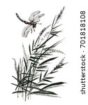 hand drawn monochrome flowers... | Shutterstock . vector #701818108