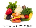 still life of vegetables on an... | Shutterstock . vector #701822896
