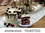 black forest cake ... | Shutterstock . vector #701827522