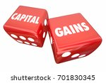capital gains rolling dice... | Shutterstock . vector #701830345