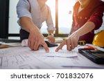 engineer people meeting working ... | Shutterstock . vector #701832076