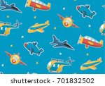 cute cartoon air pattern | Shutterstock .eps vector #701832502