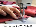 hands of professional tailor... | Shutterstock . vector #701834692