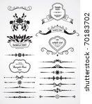 set of design elements | Shutterstock .eps vector #70183702