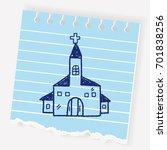 church doodle | Shutterstock .eps vector #701838256