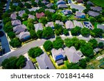 aerial drone view above austin... | Shutterstock . vector #701841448