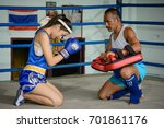 thai boxing and ancient boxing... | Shutterstock . vector #701861176