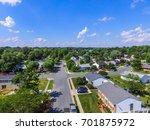 aerial of a neighborhood in... | Shutterstock . vector #701875972