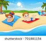 vector illustration of children ... | Shutterstock .eps vector #701881156