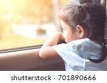 cute asian little child girl... | Shutterstock . vector #701890666