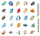 hi fi icons set. isometric set... | Shutterstock .eps vector #701895055