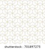 seamless geometric line grid...   Shutterstock .eps vector #701897275