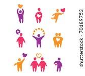 set of icons   love | Shutterstock .eps vector #70189753