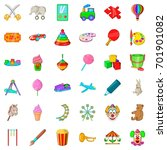 umbrella icons set. cartoon... | Shutterstock .eps vector #701901082
