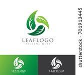 leaf nature logo   Shutterstock .eps vector #701913445