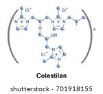 colestilan is a medication that ... | Shutterstock .eps vector #701918155