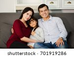 the happiness of the family on... | Shutterstock . vector #701919286