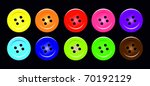 set of buttons vector | Shutterstock .eps vector #70192129