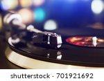 turntable vinyl record player... | Shutterstock . vector #701921692