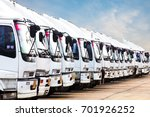 trucks in a row with container... | Shutterstock . vector #701926252