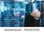 investment concept hand with... | Shutterstock . vector #701927425